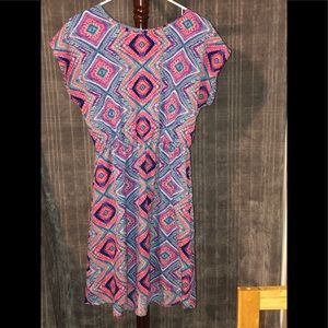 Just Be-Multi Colored Light Wight Dress